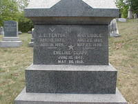 J E Fenton, W J Liddle and Emeline Clapp Monument